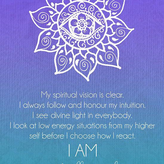 Third Eye Chakra Affirmations